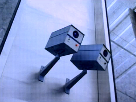 70's surveillance cameras. Sonic Youth Still / screenshot from Little Trouble Girl (1995)