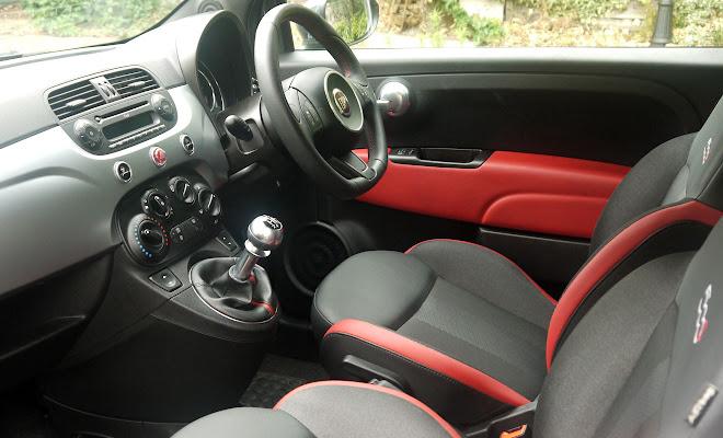 Fiat 500 front interior