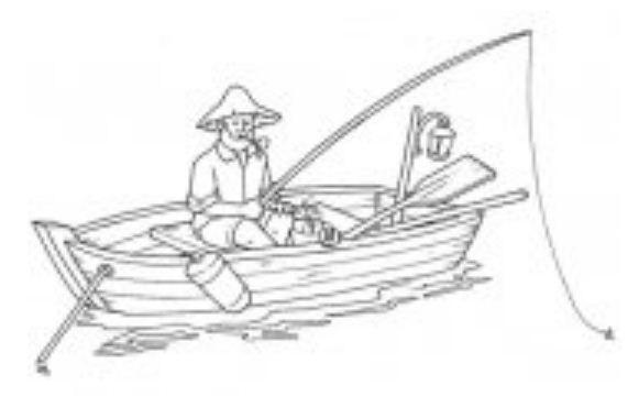 Il bottone automatico da pesca in linea immagazzina