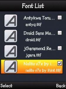 Mengganti Font Symbian s60v3  s60v5 s^3 anna belle