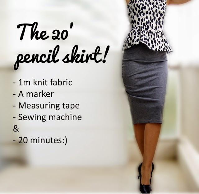 Stretchy Fabric pencil skirt