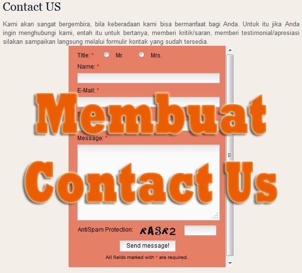 Formulir Contact Us