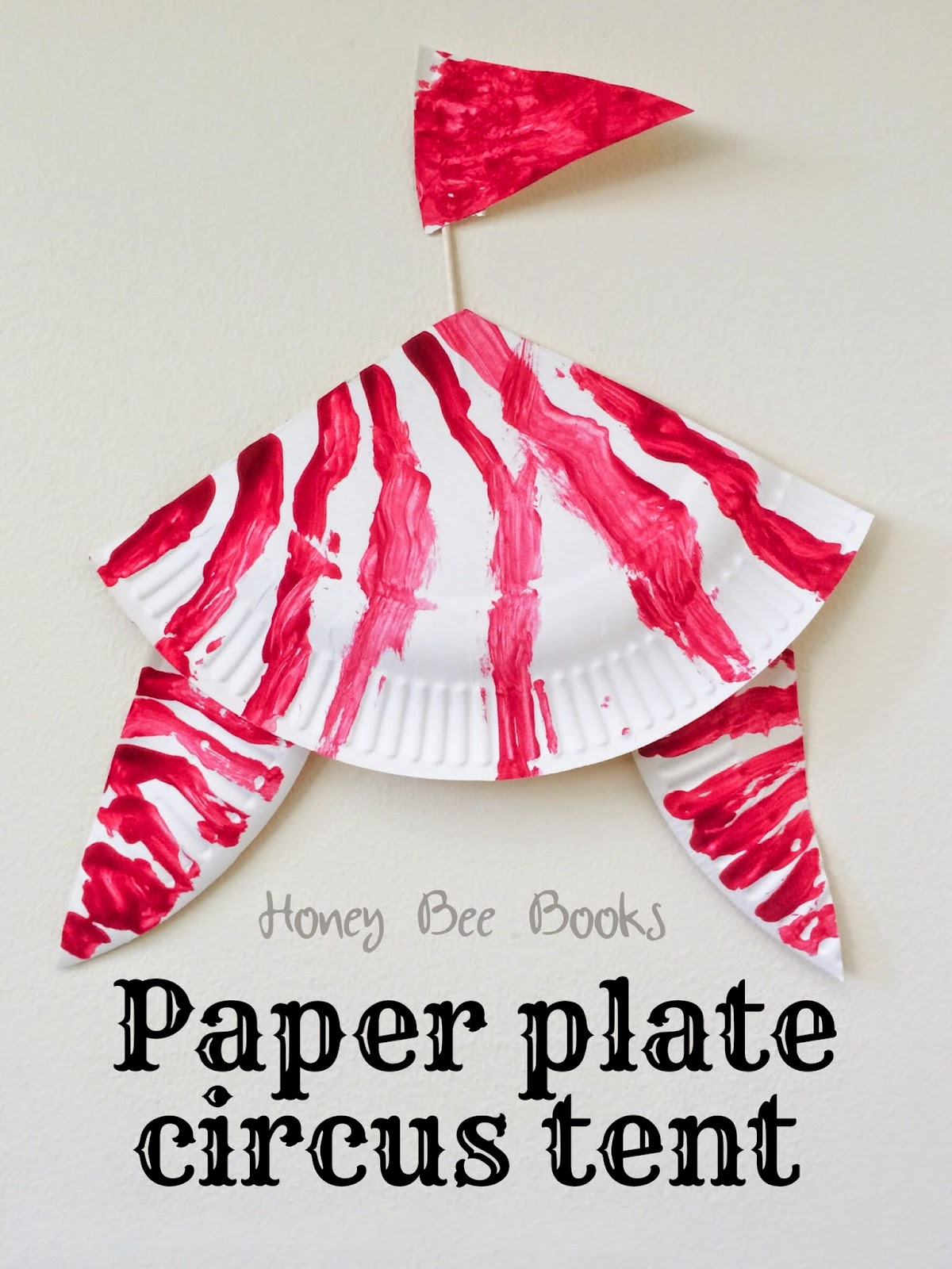 How to create a paper plate circus tent