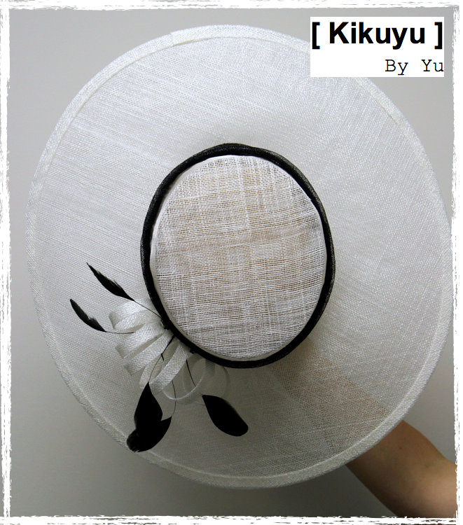 wide brim white hat