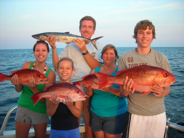 Golden family fishing with the family for Fish and trip