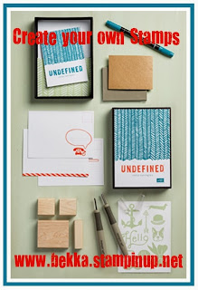 Create your own Stamps with the Stampin' Up! Undefined Kit available at www.bekka.stampinup.net