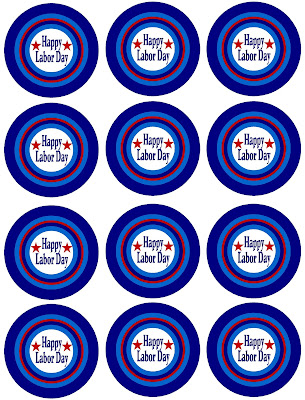 Enjoy the last holiday before summer is officially over with these Labor Day cupcake wrappers. These free printable circles are 2.5 inches and can be easily printed to decorate your holiday cupcakes.
