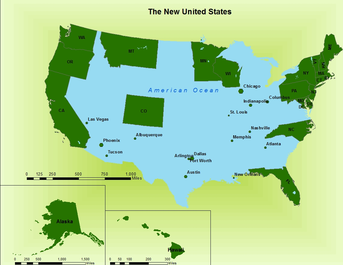 in intentional oversight nasa releases map of the new united states