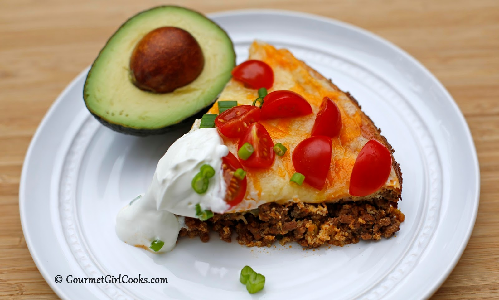 Gourmet Girl Cooks: Impossibly Easy Taco Pie - Low Carb & Gluten Free