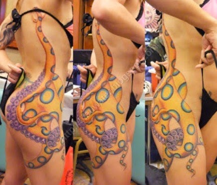 Tattoo of Blue ringed octopus