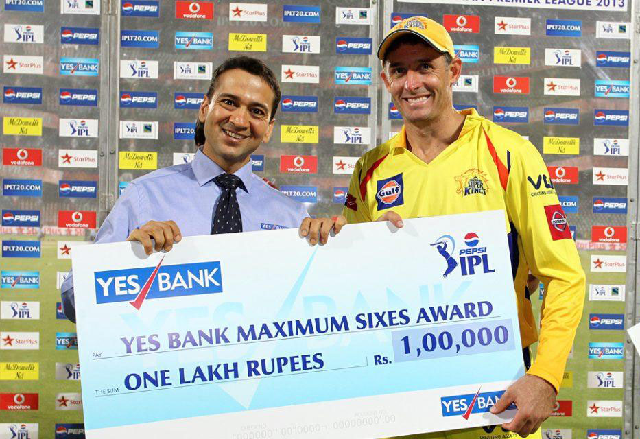 Michael-Hussey-Maximum-Sixes-DD-vs-CSK-IPL-2013