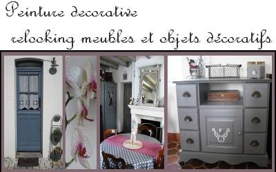 Cours peinture d corative meubles peints patin s t te de lit patin e et d cor e - Meubles peints patines ...
