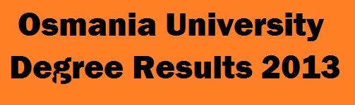 manabadi ou degree results 2013