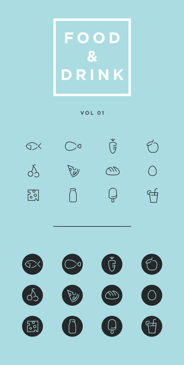 Food & Drink Icons: Free