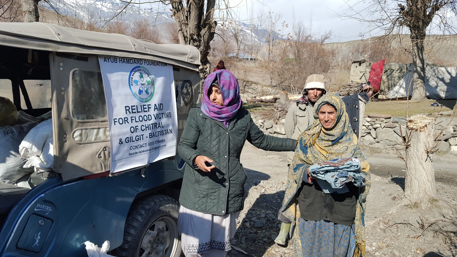 AYUB HAMDARD FOUNDATION RELIEF AID FOR CHITRAL FLOOD AND EARTHQUAKE VICTIMS DEC 2015