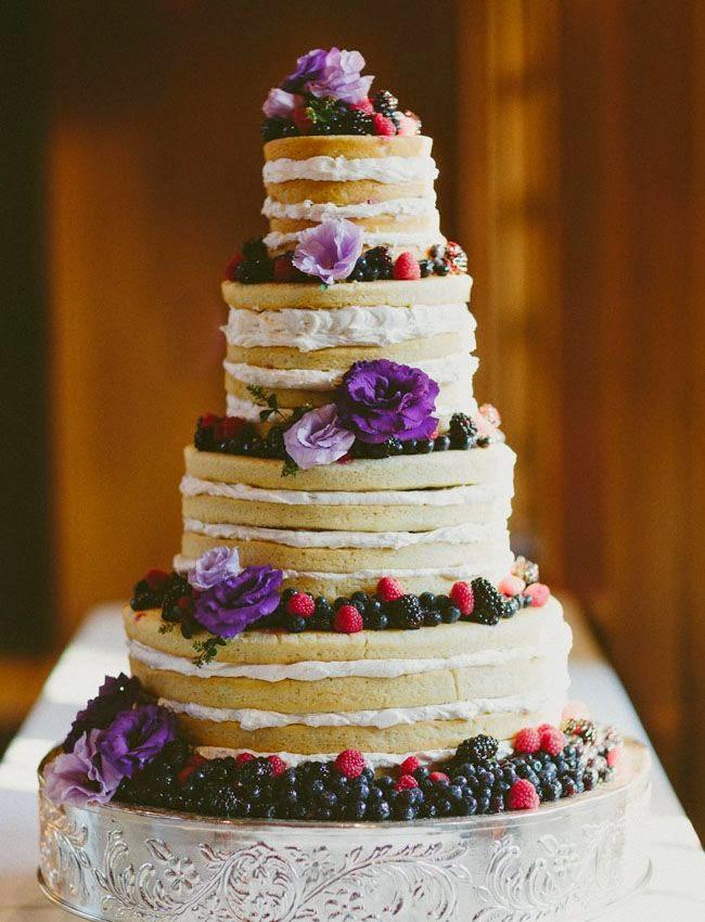 Naked cakes: naturel bruidstaarten