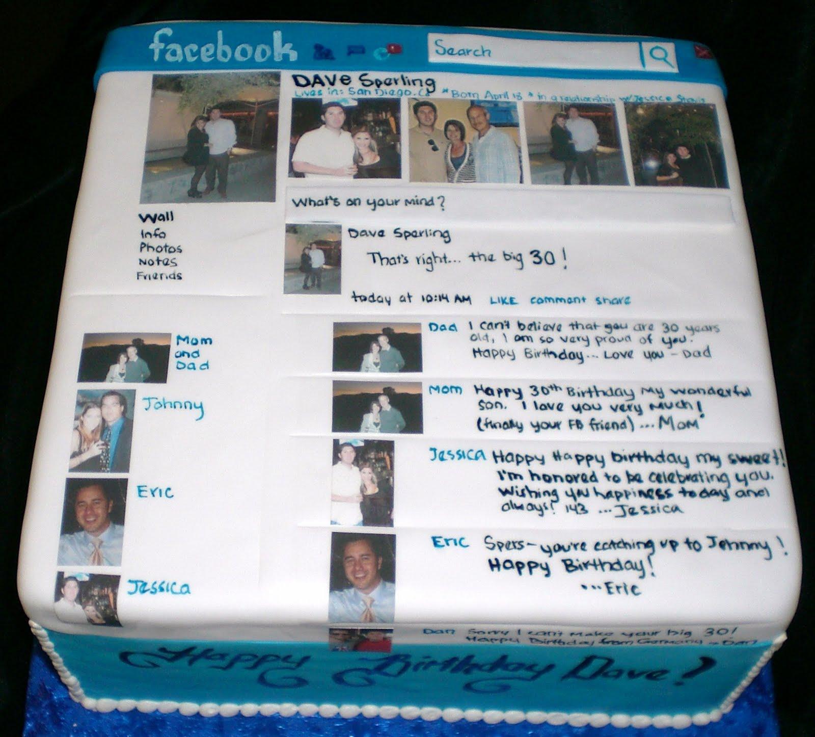 The Crimson Cake Blog Facebook Cake