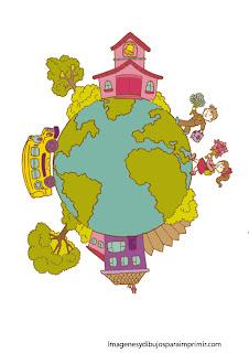el mundo del colegio El colegio para imprimir