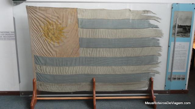 Bandeira do Uruguai no Museu do Futebol - Montevidéu, Uruguai