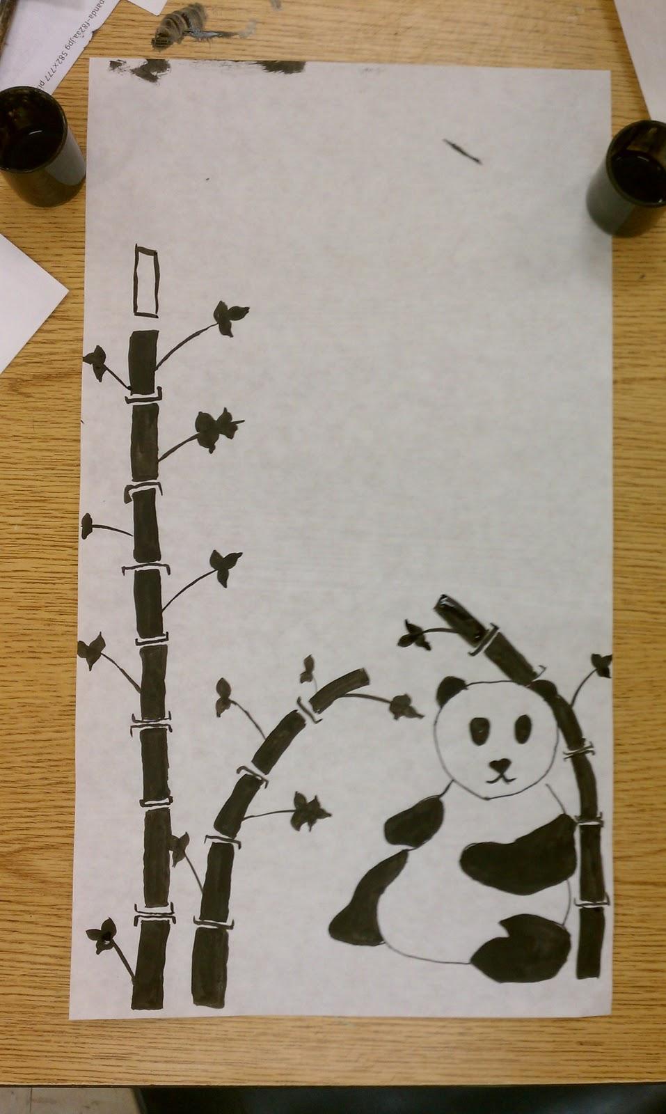 art rocks   5th grade  pandas and bamboo