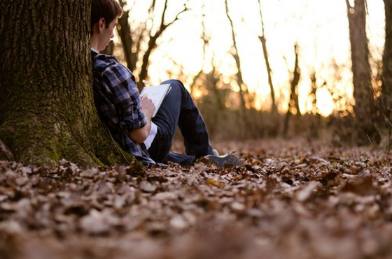 Alone, sad, boy, cute, in, forest, broken, heart ...
