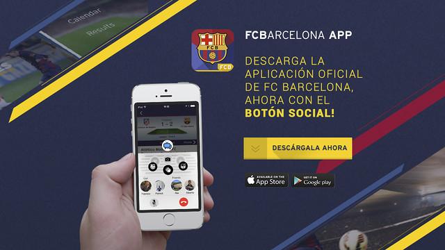 El Barça lanza el 'botón social' para su app