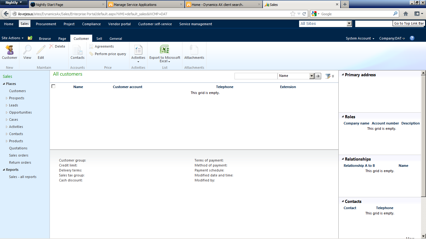 Ax pre requisites to install dynamics ax 2009 and enterprise portal - Procurement Project Complience Vendor Portal