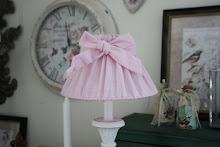 Shabby chic lampskärm