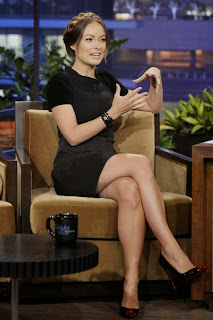 Olivia Wilde Pictures in Short Dress at The Tonight Show with Jay Leno ~ Celebs Next