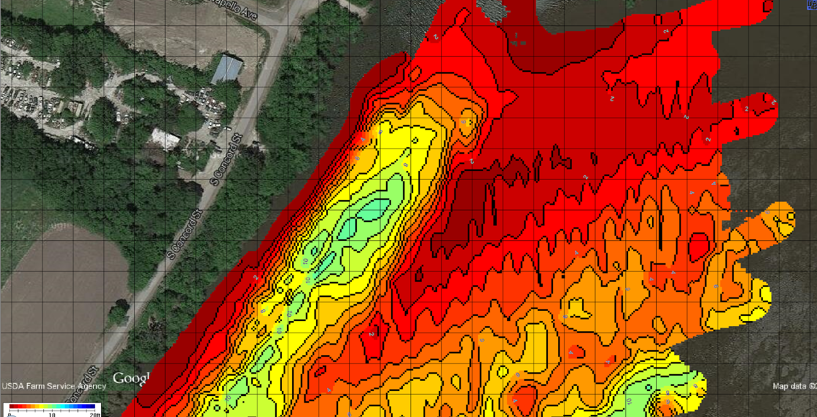 Netbook To Chartplotter Project Depth Maps of Pool 16 Mississippi