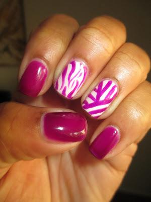 Julep, Bette, Ava, January Maven Box 2013, zebra, tribal, nail art, nail design, mani