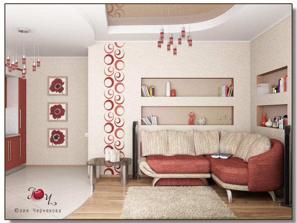 Дизайн комнаты с выступом фото