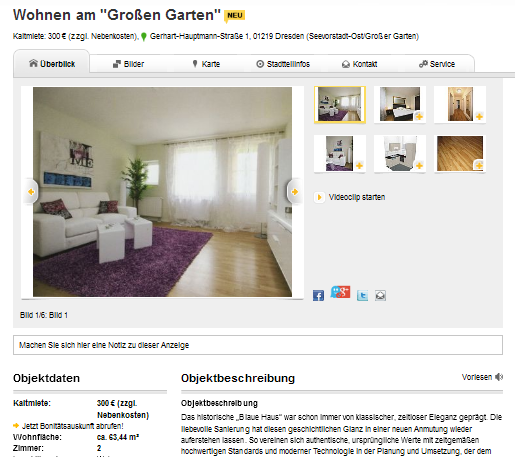 rent dresden striesen