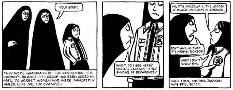 cultural acceptance in marjane satrapi s persepolis This paper examines ari folman's waltz with bashir (2008) and marjane satrapi's persepolis (2007) to elucidate how artists, distributors, and audiences shape and define the porous boundaries of the documentary genre, and how such perceptions are shaped within a digital context.