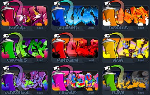 Herramienta para hacer títulos con graffiti