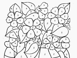 Free Valentine Math Coloring Sheet