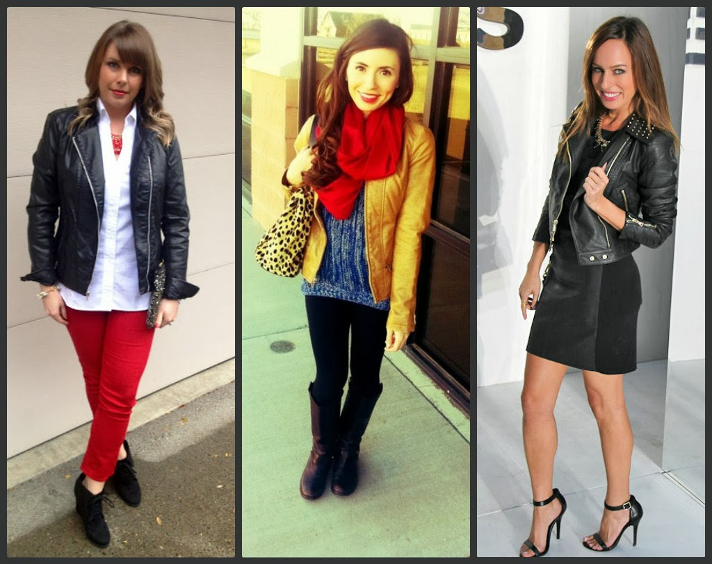 express minus the leather moto jacket, outfit ideas, with scarf, with skirt