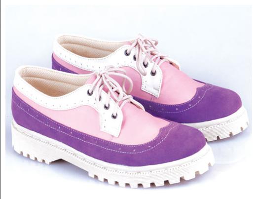 Sepatu: Sepatu Kets Azzura Ungu Kombinasi (SDG-478)