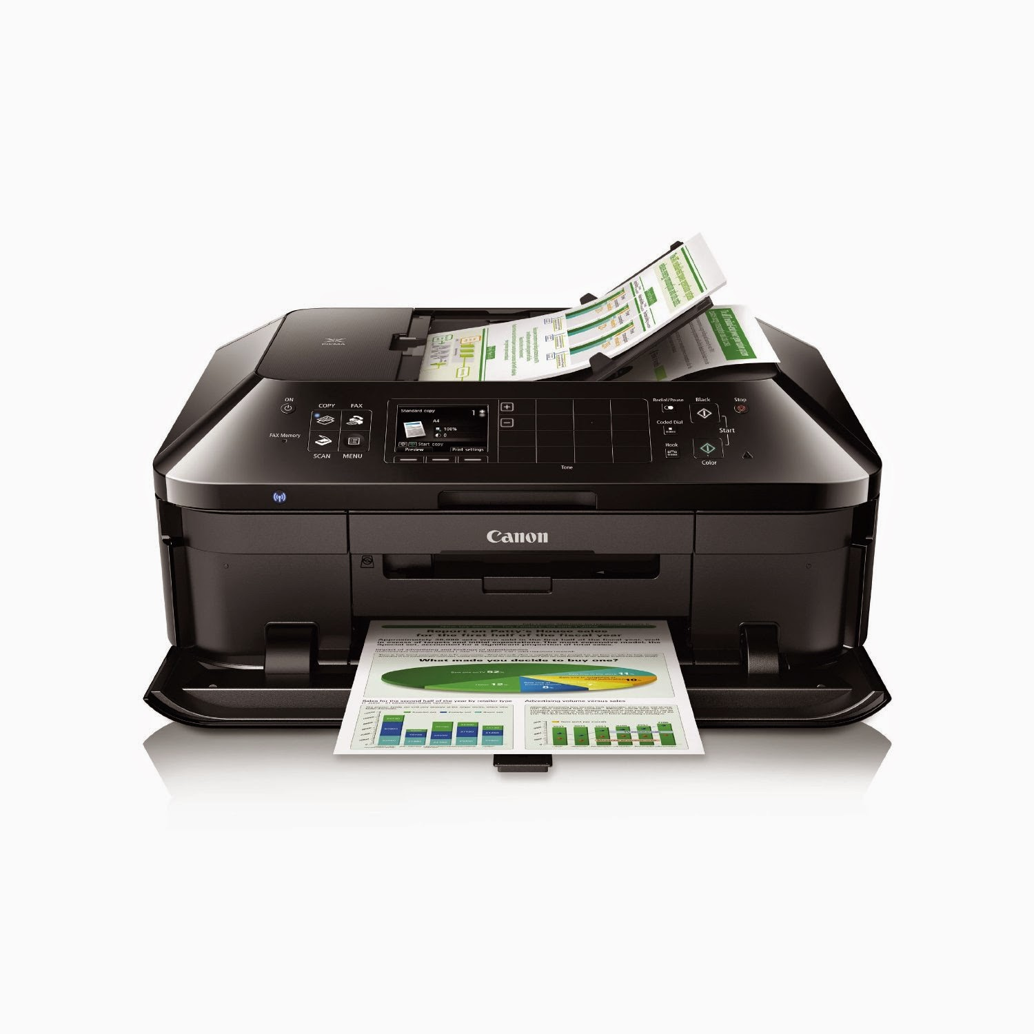 Canon PIXMA MX922 Wireless Color Photo Printer with Scanner, Copier, and Fax