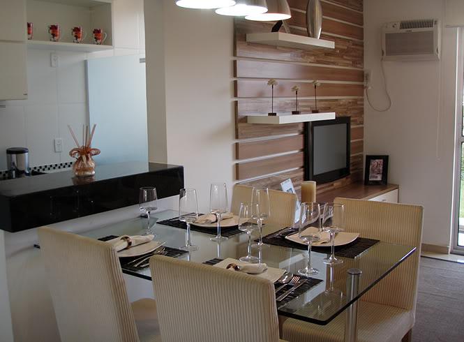 decoracao branca azul aracatuba : decoracao branca azul aracatuba:Cozinha Integra DA Com Sala De Jantar
