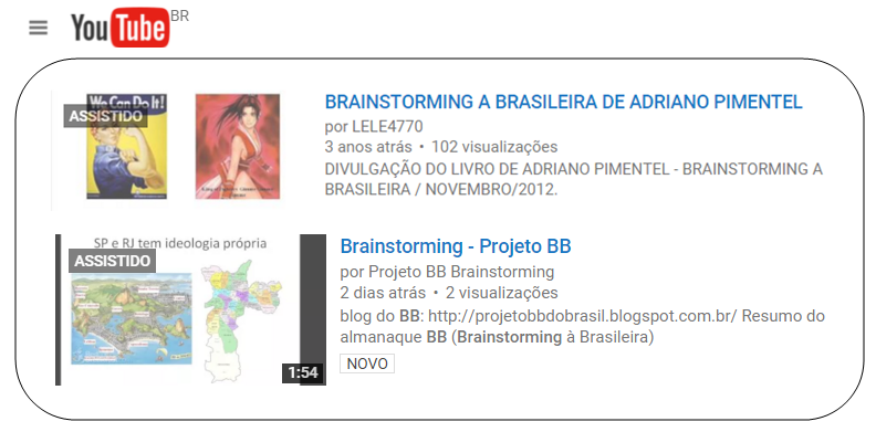 O Youtube e o BB....