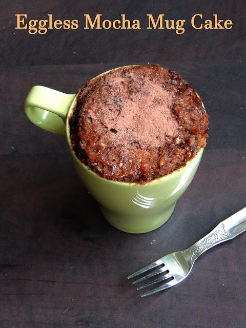Eggless Butterless Mocha Mug Cake