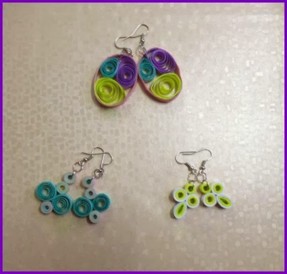 Quilling Earrings Simple and Pretty