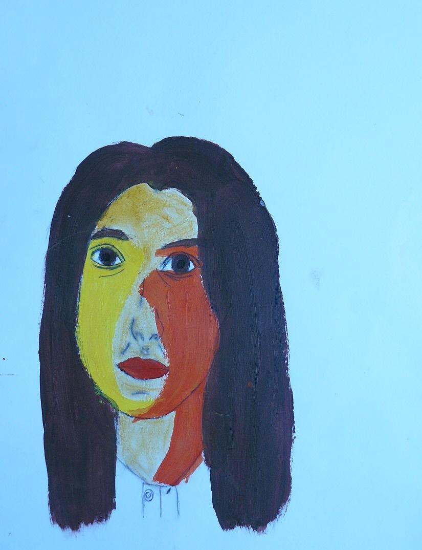 Arts plastiques autoportrait d 39 apr s miroir autoportrait for Autoportrait miroir