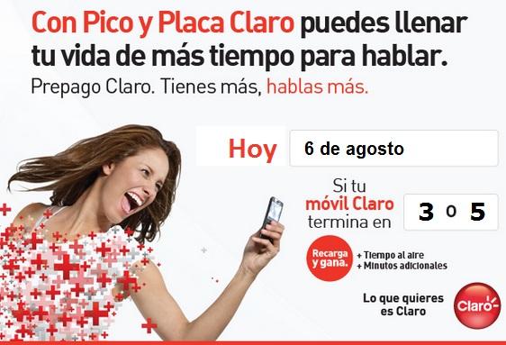 el pico y placa de claro de Colombia antes el Pico y Placa Comcel