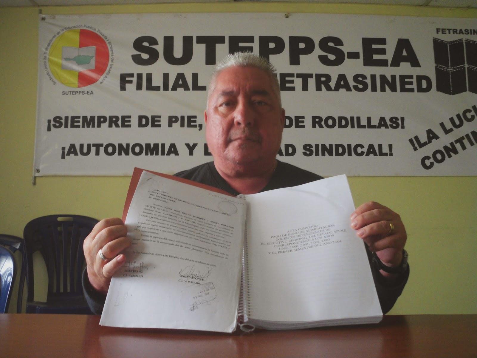 Sutepps-Apure alerta retardo por firma de contrato colectivo de docentes regionales antes gobernación de Apure.