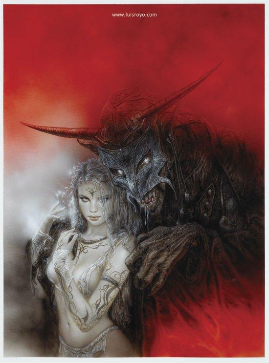 Luis Royo ilustrações mulheres sensuais fantasia sombria dark fantasy estilo heavy metal
