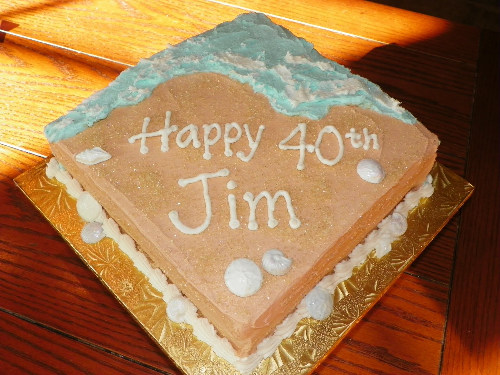 This Cake Is The Big 4 0 Meets Hawaii 5 Simple Birthday Was For A Rained Out Beach Party Who Knew Weird Weather Year