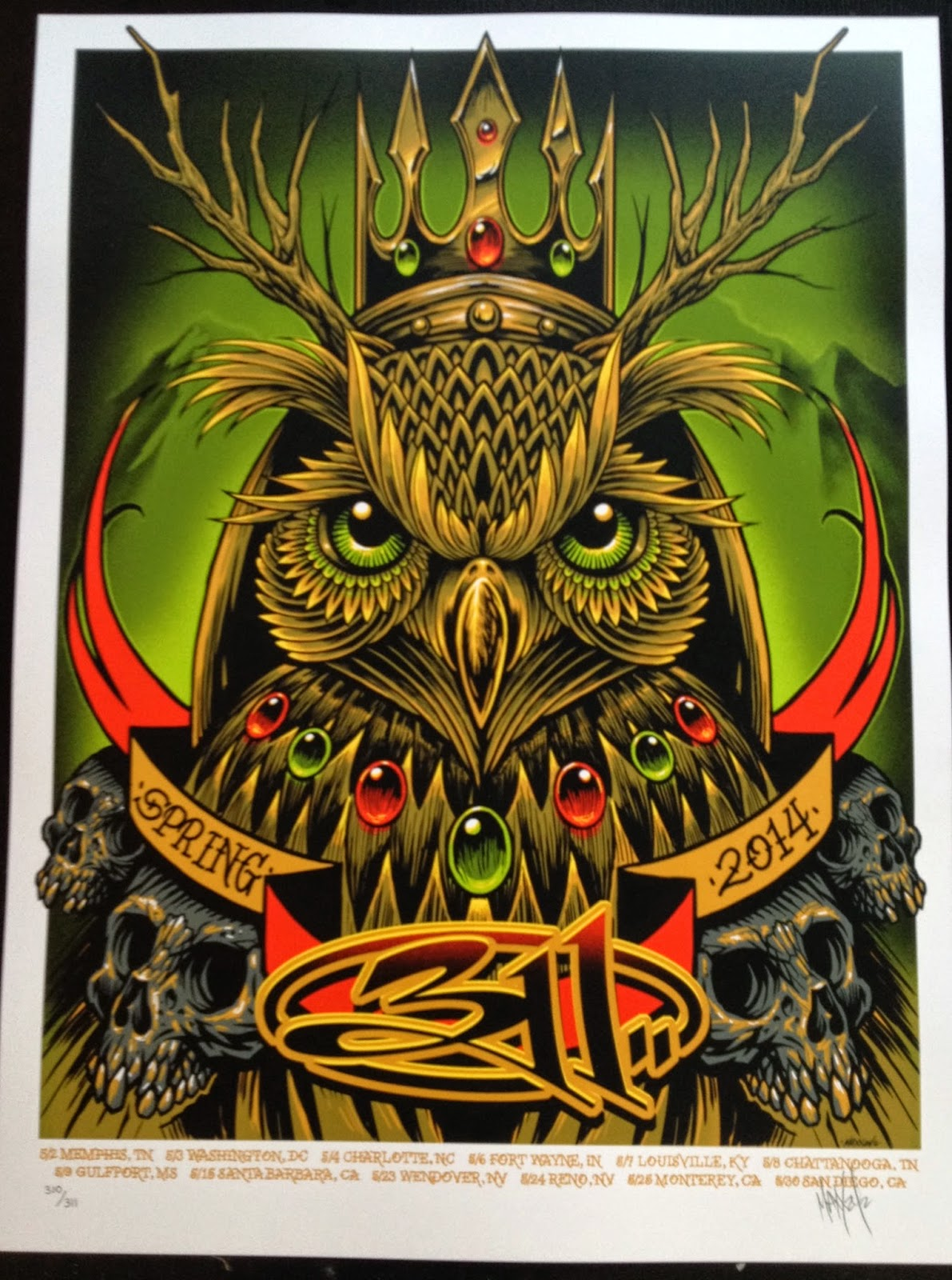 INSIDE THE ROCK POSTER FRAME BLOG: 311 Spring Tour poster by Maxx242