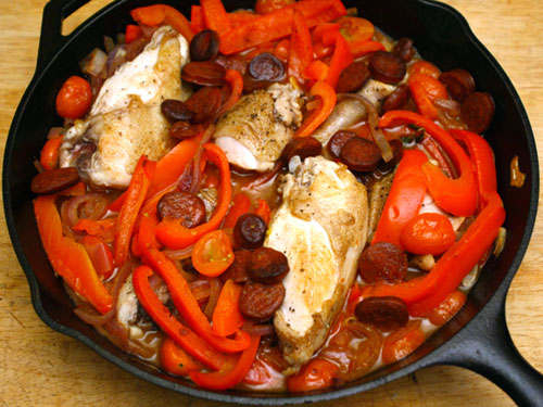 ... French food Friday...Braised Basque Chicken with Tomatoes and Paprika